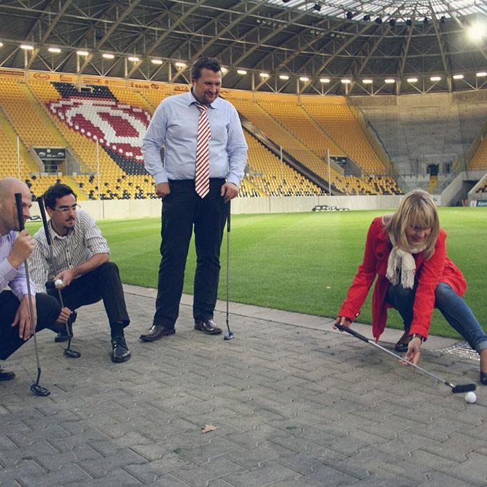 Golf im Stadion Dresden
