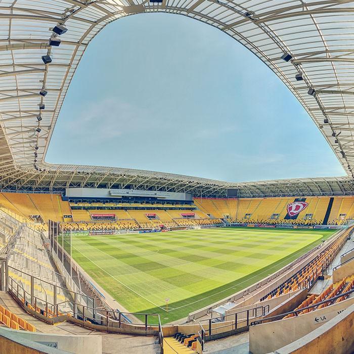 Stadion Dresden Panorama Ausschnitt
