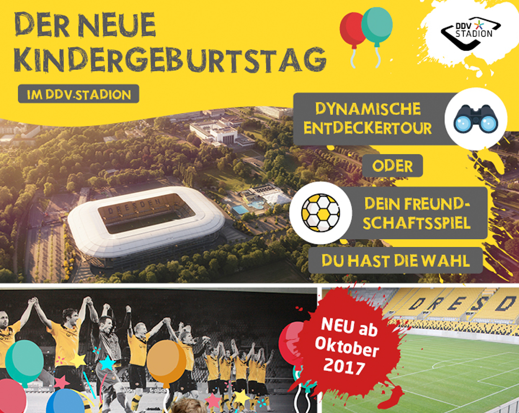 Der neue Kindergeburtstag im DDV-Stadion
