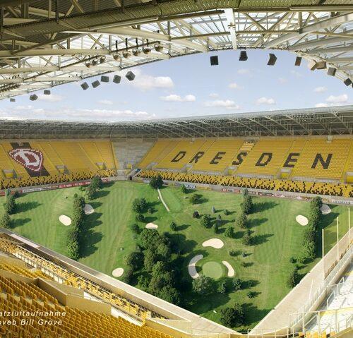 Bildmontage - Golfplatz im Fußballstadion final web